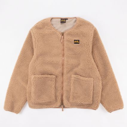 Stan Ray Fleece Layer Cardigan Khaki Boa Fleece1