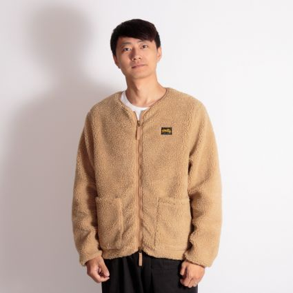 Stan Ray Fleece Layer Cardigan Khaki Boa Fleece