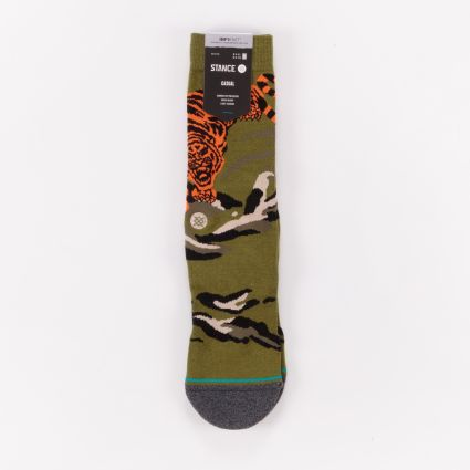 Stance Big Cat Crew Socks Green