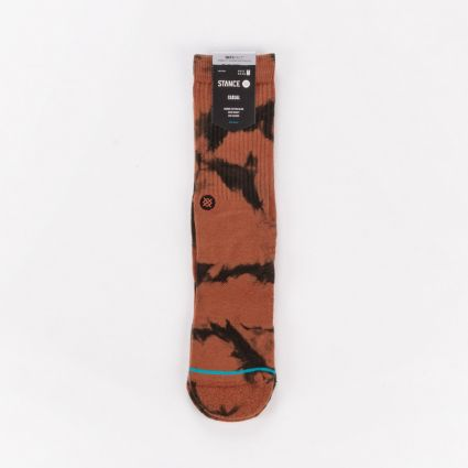 Stance Dyed Crew Socks Brown1