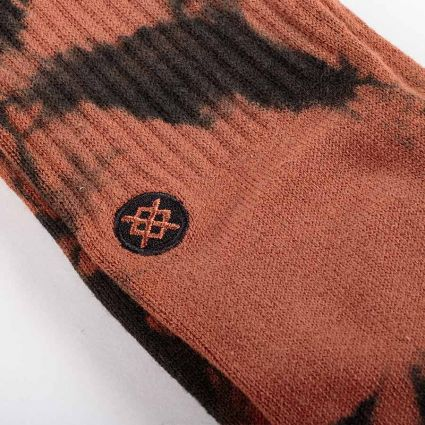 Stance Dyed Crew Socks Brown