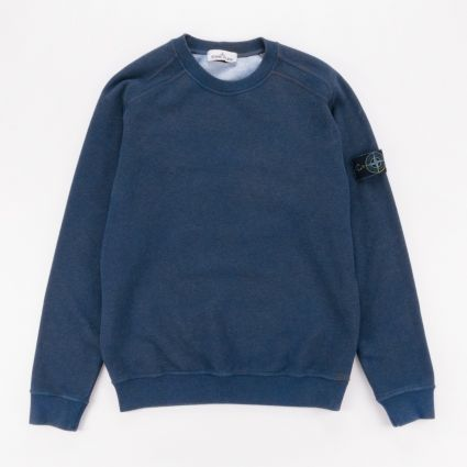 Stone Island Dust Colour Melange Crewneck Sweatshirt Avio Blue1
