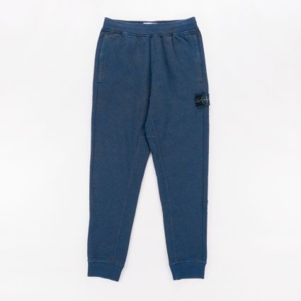 Stone Island Dust Colour Melange Sweatpants Avio Blue1