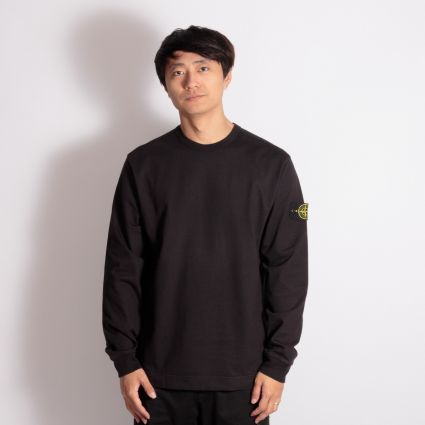 Stone Island Flat Bottom Sweatshirt Black
