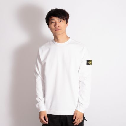 Stone Island Flat Bottom Sweatshirt White