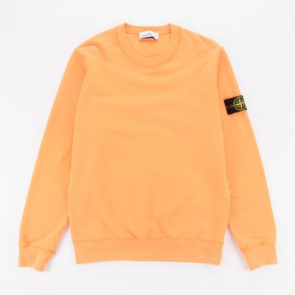Stone Island Garment Dyed Crewneck Sweatshirt Orange1