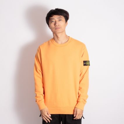 Stone Island Garment Dyed Crewneck Sweatshirt Orange