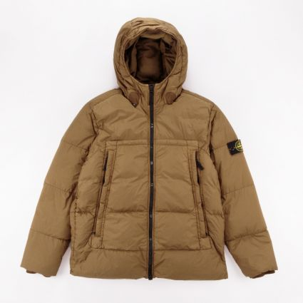 Stone Island Garment Dyed Crinkle Reps NY Down Jacket Tobacco1