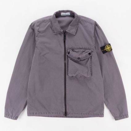 Stone Island Garment Dyed Overshirt Blue Grey1