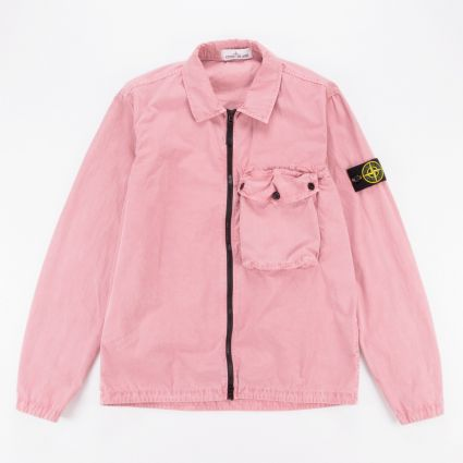 Stone Island Garment Dyed Overshirt Rose Quartz1