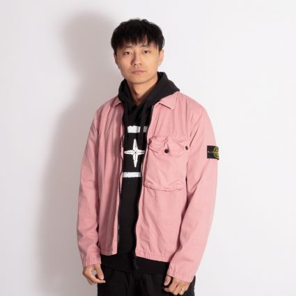 Stone Island Garment Dyed Overshirt Rose Quartz