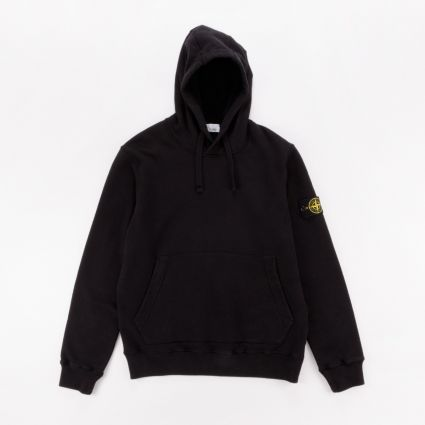 Stone Island Garment Dyed Popover Hoodie Black1