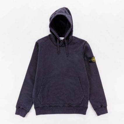 Stone Island Garment Dyed Popover Hoodie Ink1
