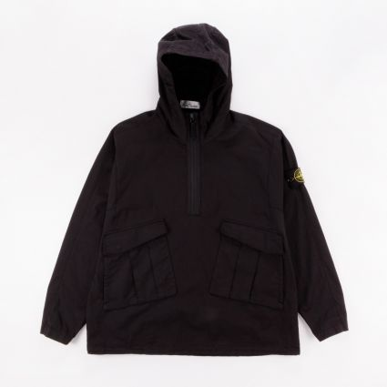 Stone Island Hooded Overshirt Black1