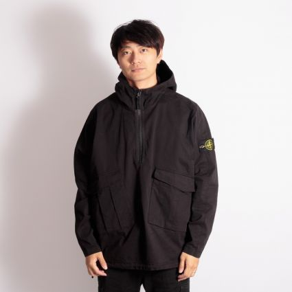 Stone Island Hooded Overshirt Black