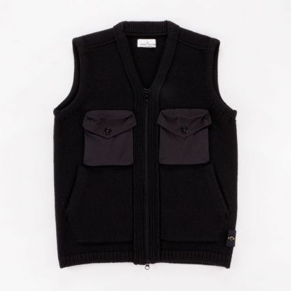 Stone Island Knitted Lambswool Vest Black1