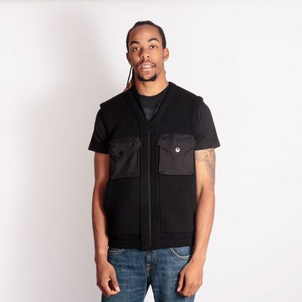 Stone Island Knitted Lambswool Vest Black