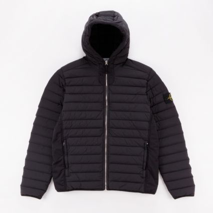 Stone Island Loom Woven Down Chambers Stretch Nylon-TC Jacket Black1