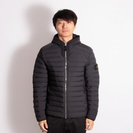 Stone Island Loom Woven Down Chambers Stretch Nylon-TC Jacket Black
