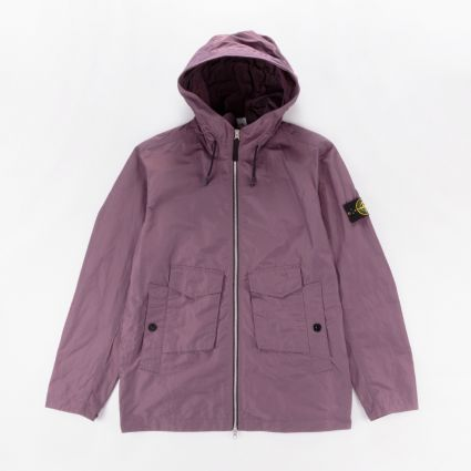 Stone Island Micro Reps Hooded Jacket Dark Burgundy1