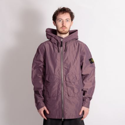 Stone Island Micro Reps Hooded Jacket Dark Burgundy