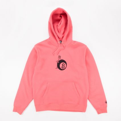 Stussy 8 Ball Man App. Hoodie Pale Red1