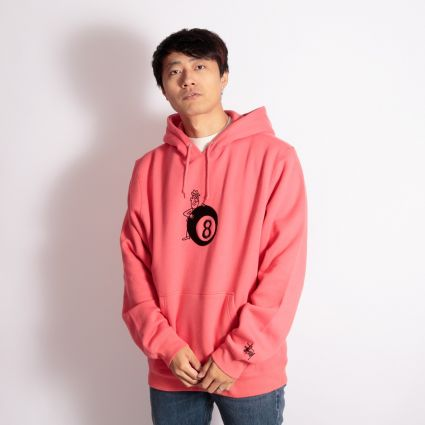 Stussy 8 Ball Man App. Hoodie Pale Red