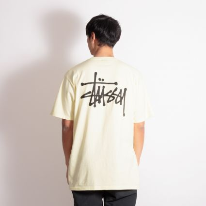 Stussy Basic T-Shirt Pale Yellow