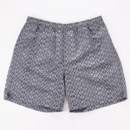 Stussy Check Nylon Short Charcoal1
