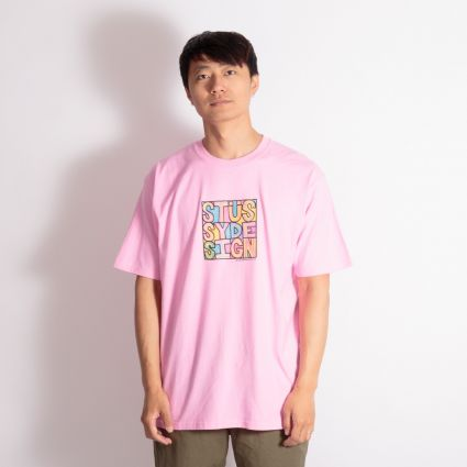 Stussy Clyde T-Shirt Pink