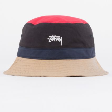 Stussy Color Block Bucket Hat Black1