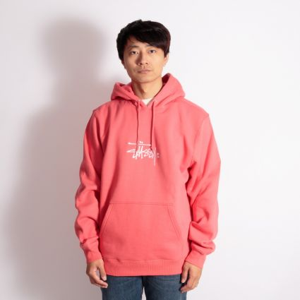 Stussy Copyright Stock App. Hoodie Pale Red