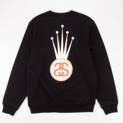 Stussy Crown Link Crew Sweatshirt Black