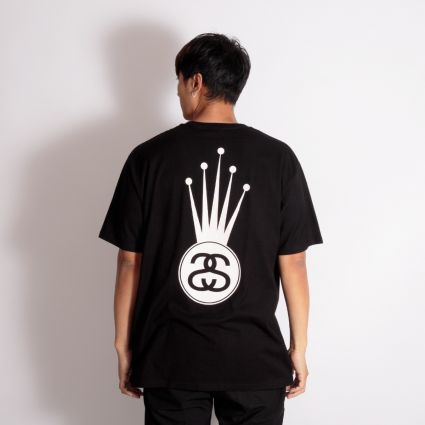 Stussy Crown Link T-Shirt Black