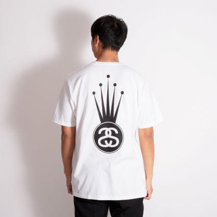 Stussy Crown Link T-Shirt White
