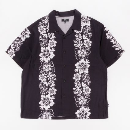 Stussy Hawaiian Pattern Shirt Black1