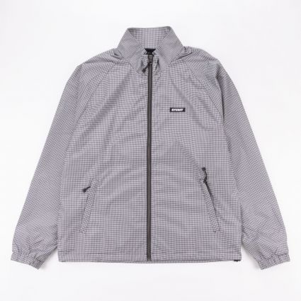 Stussy Houndstooth Track Jacket Black1