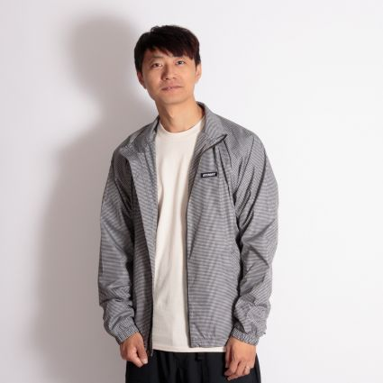 Stussy Houndstooth Track Jacket Black