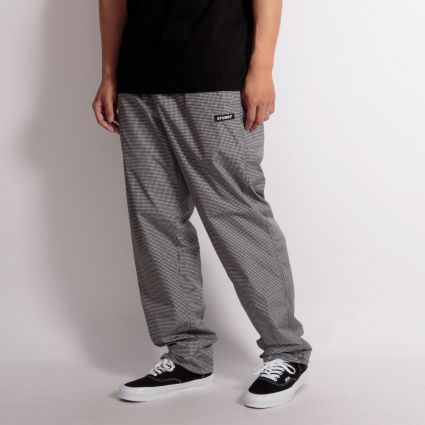 Stussy Houndstooth Track Trouser Black