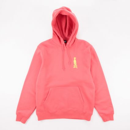 Stussy King Raggamuffin Hoodie Pale Red1