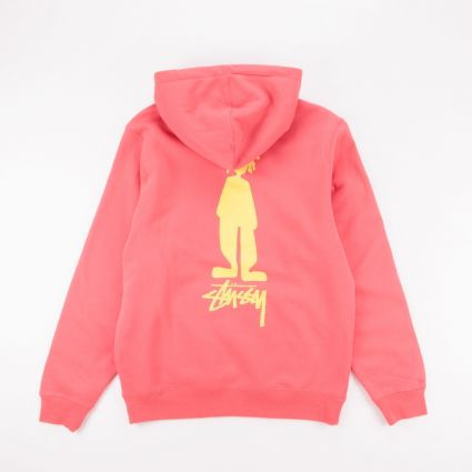 Stussy King Raggamuffin Hoodie Pale Red