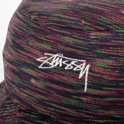 Stussy Multi Color Knit Bucket Hat Black