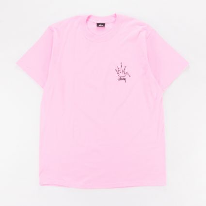 Stussy Old Crown T-Shirt Pink1