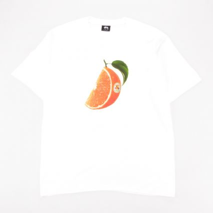 Stussy Orange Slice T-Shirt White1