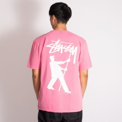 Stussy Painter Pig. Dyed T-Shirt Pink