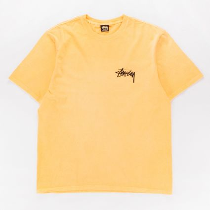 Stussy Painter Pig. Dyed T-Shirt Yellow1