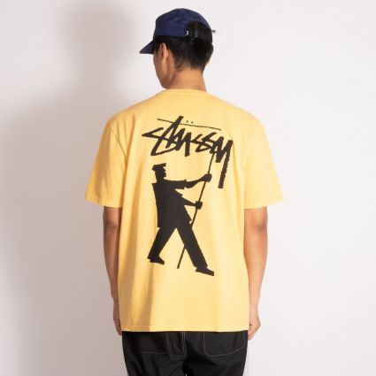Stussy Painter Pig. Dyed T-Shirt Yellow