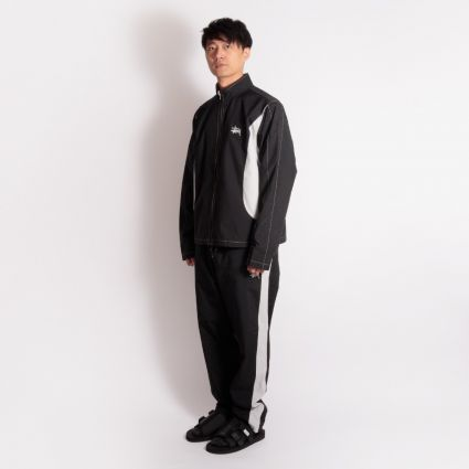 Stussy Panel Track Relaxed Pant Black