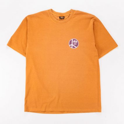Stussy Peace Dot Pig. Dyed T-Shirt Copper1