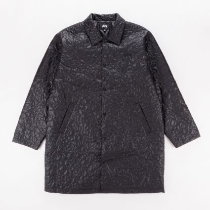 Stussy Ritters Long Quilted Jacket Black1